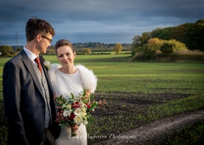 Autumnal Wedding Laura & Kris - The Cowshed Barn Wedding Venue Shropshire